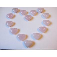 Rose Quartz Hearts 25x30mm